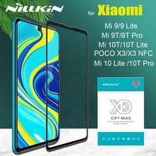 Nillkin tam kapsama için güvenlik temperli cam Xiaomi Mi 10 Lite Mi9 Mi10T Mi 10T 9T Pro Poco x3 NFC 5G cam ekran koruyucu