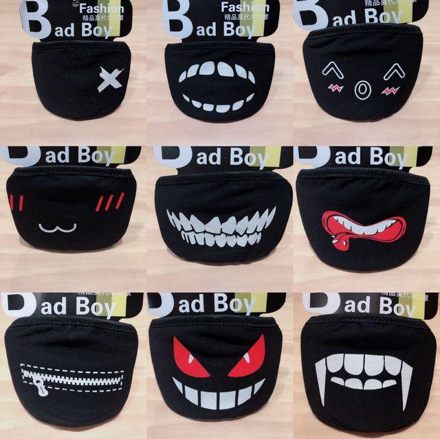 20 Styles Black Cotton Mouth Mask Unisex Teens Anti-Dust Mask Anime Mask Fashion Health Face Mouth Mask 3