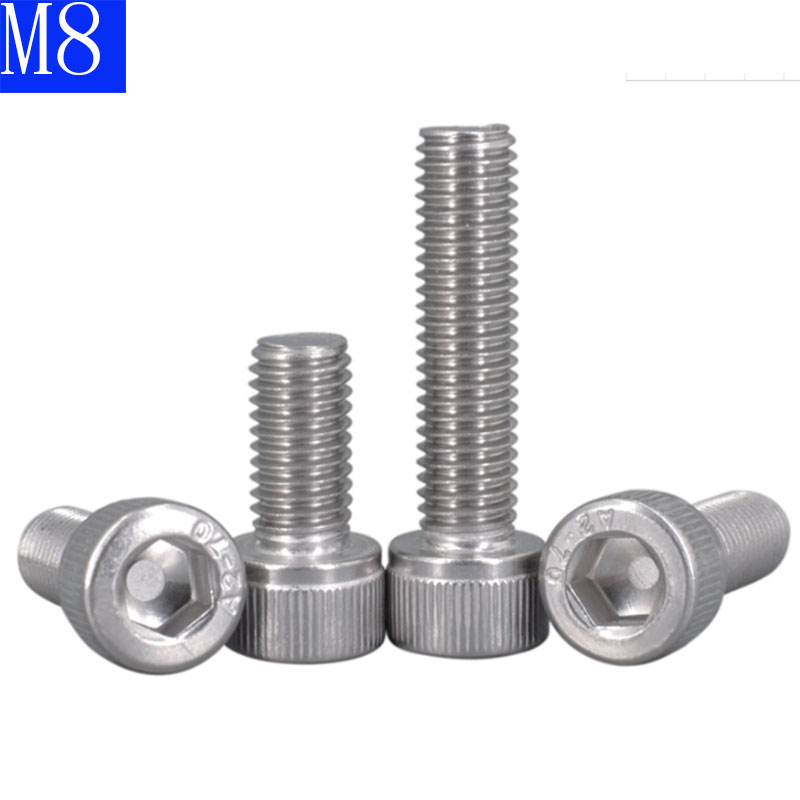 M8 Allen Bolt Socket Cap Screws φ8mm 304 Stainless Steel Hex Head Screw DIN912