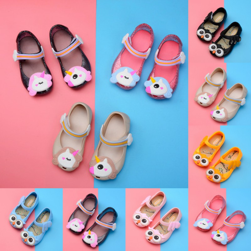 Mini Melissa Sandals Jelly-Shoes Shoes-Size Toddler Girls' Princess Flat New Cute PVC