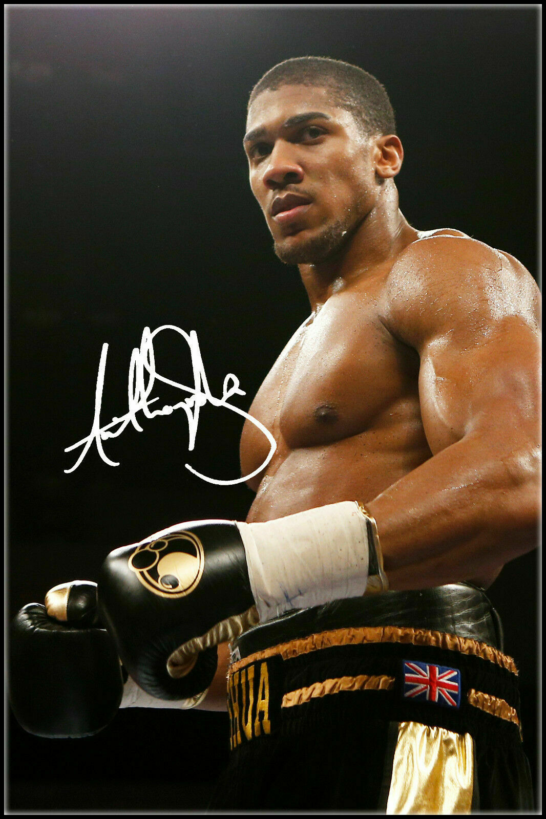 ANTHONY JOSHUA Signature Boxing Sports Art Film Print Silk Poster Home Wall Decor 24x36inch
