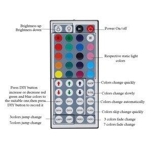 Image 3 - مصلحة الارصاد الجوية 5050 3528 2835 RGB LED قطاع شريط ضوء الملحقات تيار مستمر 12 فولت 24key / 44 مفتاح RGB الأشعة تحت الحمراء RF التحكم عن بعد لشريط RGB led