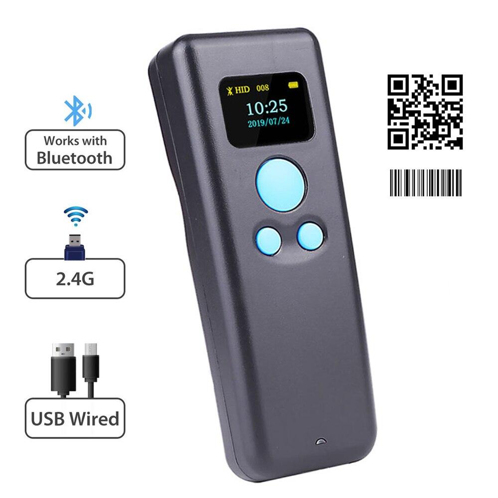 M8L przenośny bezprzewodowy skaner kodów kreskowych i M8D Mini Bluetooth 1D/2D QR kod kreskowy czytnik PDF417 dla IOS Android IPAD