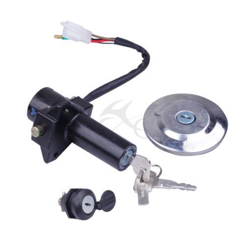 Lock Set Ignition Switch Fuel Cap Seat Lock Keys For 2005-2009 YAMAHA YBR125 New