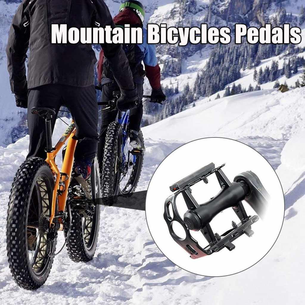 1 Pair Aluminum Bicycle Pedal Flat Platform Cycling MTB Mountain Bike Pedals