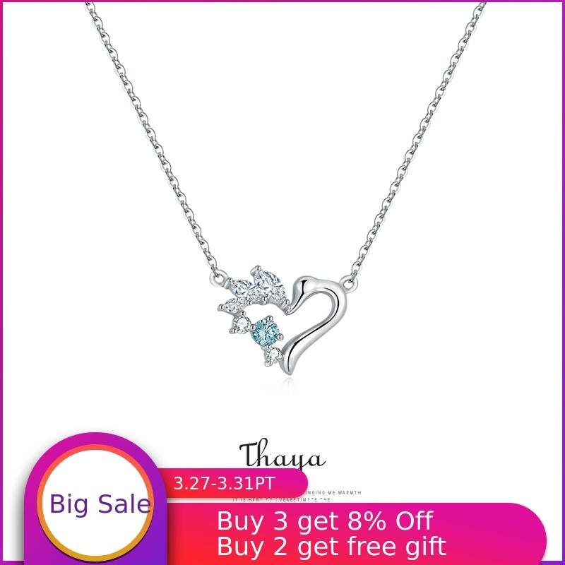 Fairy Tale Series Thaya Silver Solid S925 Choker Necklace For Women Pendant Nacklace подвеска Party Gift  Silver Fine Jewelry