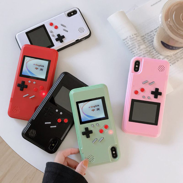 Game Cases For IPhone 12 11 Pro Max 7 8 6 6s Plus xs xr x 12Mini SE 2020 Case Cover Cartoon Game Retro Gameboy Back Cover Shell
