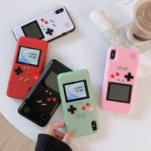 משחק מקרים עבור IPhone 12 11 פרו מקסימום 7 8 6 6s בתוספת xs xr x 12 מיני SE 2020 מקרה כיסוי קריקטורה משחק רטרו Gameboy חזור כיסוי מעטפת