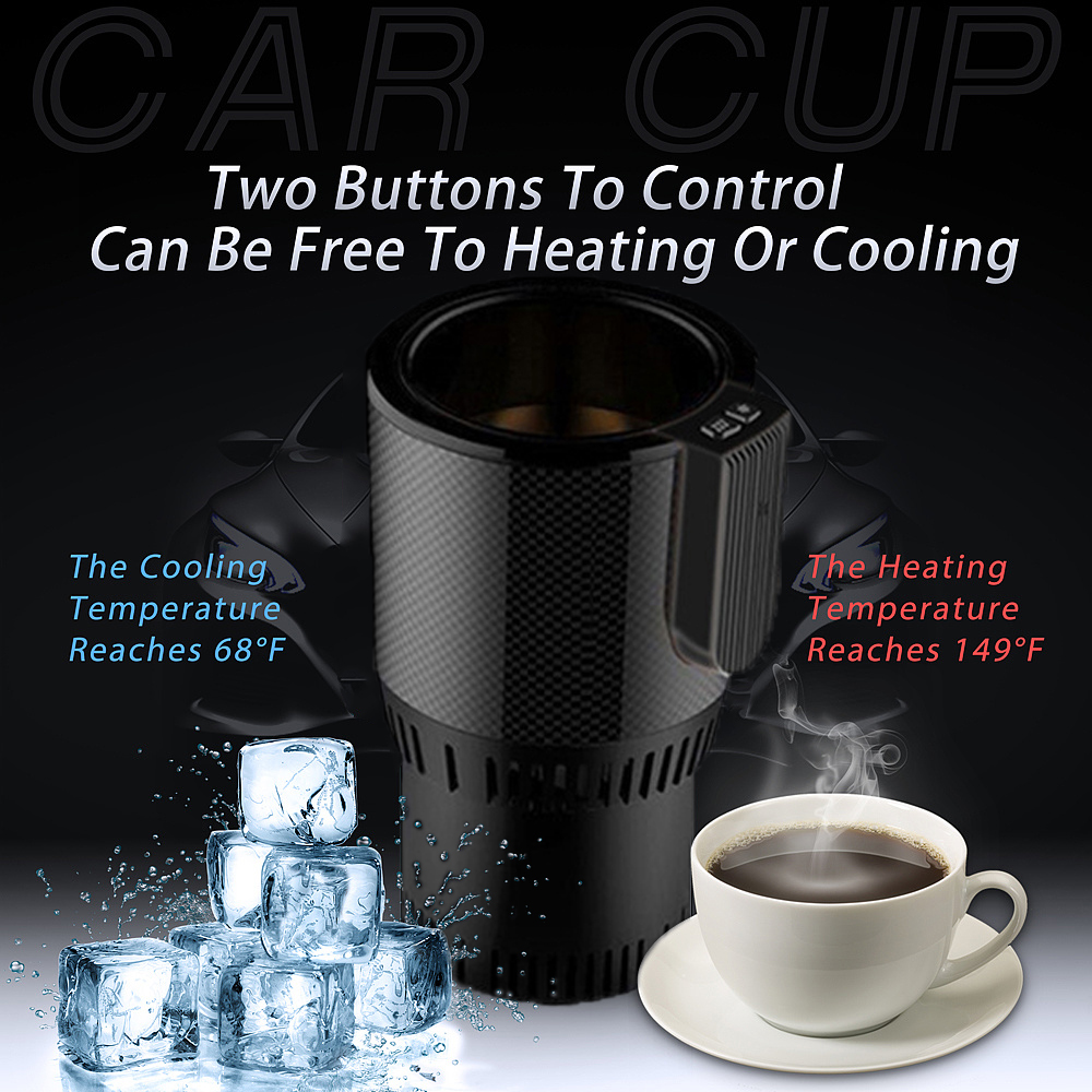 2019 Smart car hot and cold cup Home office travel heating insulation electric mini refrigerator Fishing Camping dfdf