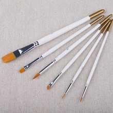 6 шт. набор кистей для рисования нейлоновая кисть для рисования волос масляная кисть для акварельного акрилового рисования школьные товары для рукоделия