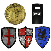 Children Pretend Knight Roman Shield Toy Pretend Play Medieval Warrior Simulation Rubber Shield Police Toys Props Stage Dress Up(China)