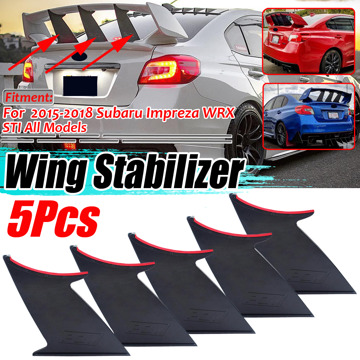 Fit Forester Bolt On Unpainted Flexible PU Rear Bumper Diffuser Chin Lip Add On
