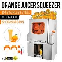 VEVOR Espremedor de Citrinos Espremedor de Laranja Lima Limão Citrus Espremedor de Frutas Máquina Elétrica Automática Alimentação Automática Comercial