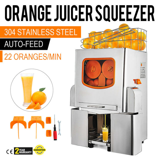 VEVOR البرتقال عصارة الحمضيات عصارة الكهربائية ماكينة صنع عصير الفاكهة الحمضيات الليمون الجير التلقائي السيارات تغذية التجاري