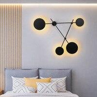 Círculo lâmpada de parede originalidade norte da europa quarto cabeceira uma sala estar fundo decoração do corredor personalidade lâmpada parede