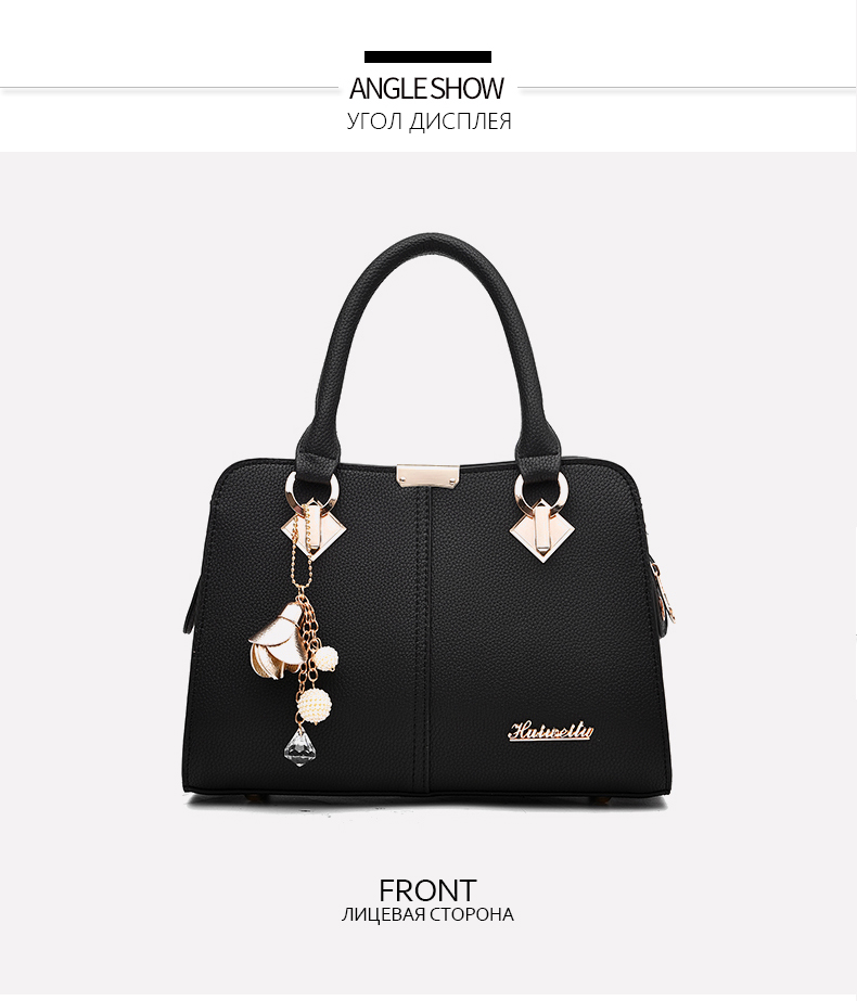 Designer Brand Bags Ladies Leather Tote Bag 2020 Luxury Ladies Handbag Wallet Fashion Shoulder Bag 8