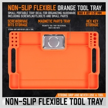 T3EC Flexible Non-Slip Flexible and Durable Tool Tray Set Sillica Gel Tool Storage Organizer for Christmas Gifts for Men