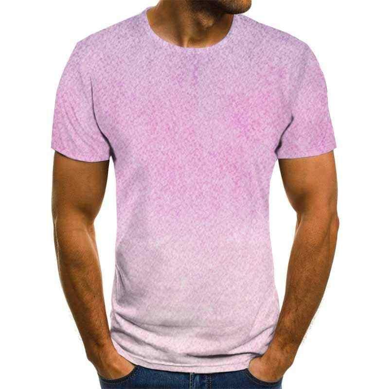 クロスボーダー爆発クリエイティブ雨滴液体印刷 3DTシャツメンズファッション流行半袖ラウンドネックtシャツ