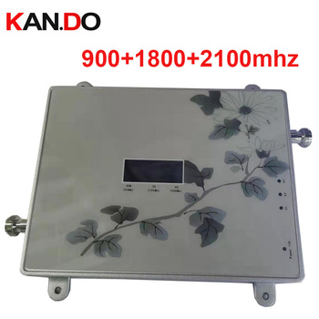 NEW flower 65dbi triband GSM 900 1800MHZ 2100MHZ booster repeater 4g repeater 3G booster gsm repeater GSM BOOSTER 4G band 3 lte