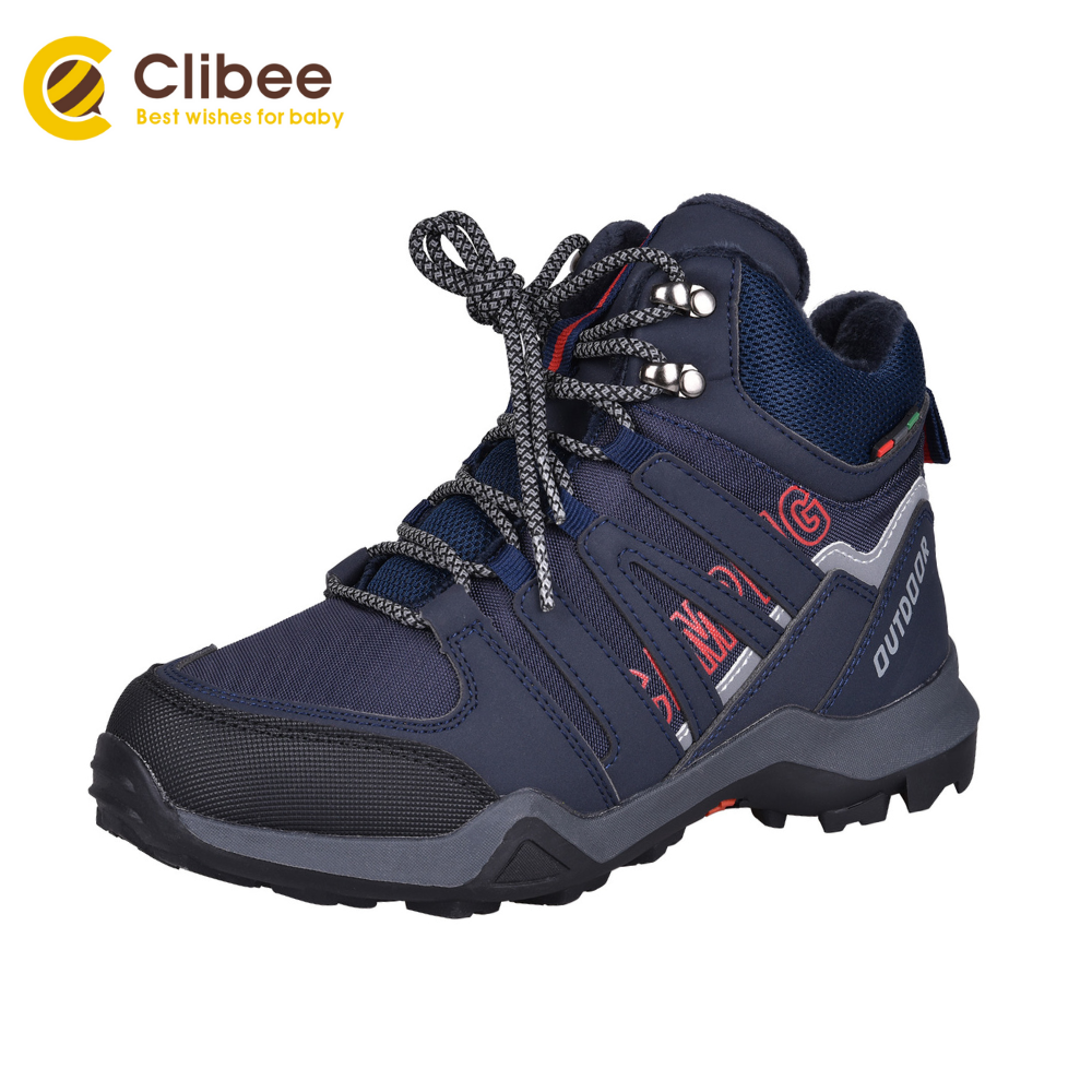CLIBEE Kids Hiking Boots Boys High Top Outdoor Walking Sport Sneaker  Comfort Non-Slippery Snow Shoes Hiker Boot Trekking Shoes - Best Offer  #928A7   Cicig