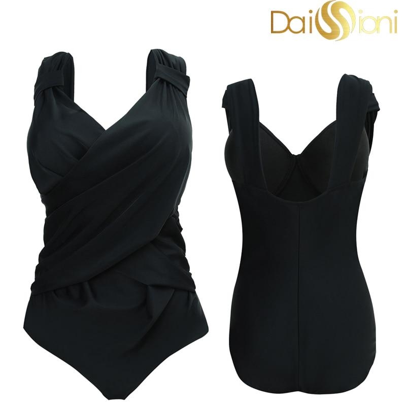 Closeout DealsSwimwear Beachwear-Wear Swimming-Suits Bathing Push-Up Big-Size Women To Solid 48 56