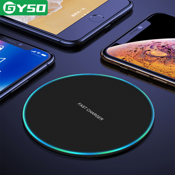 GYSO 20W Fast Wireless Charger For Samsung Galaxy S10 S9 S8 Note 9 USB Qi Charging Pad for iPhone 11 Pro XS Max XR X 8 Plus 12 1