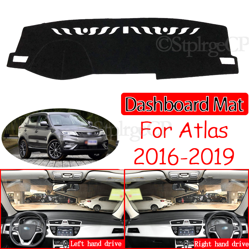 for <font><b>Geely</b></font> Atlas Boyue <font><b>Emgrand</b></font> <font><b>X7</b></font> Sport 2016 2017 2018 <font><b>2019</b></font> Anti-Slip Mat Dashboard Cover Sunshade Dashmat Protect Accessories image