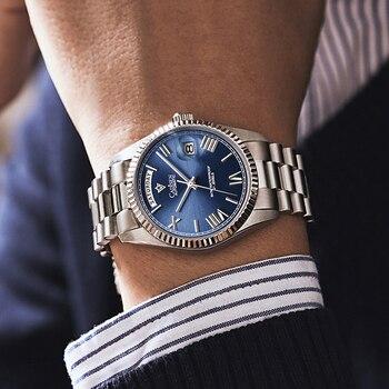 CADISEN Automatic Watch Men Sport Top Brand luxury Mechanical WristWatch Mens 2021 Stainless Steel Waterproof MIYOTA 8285 Clock 2