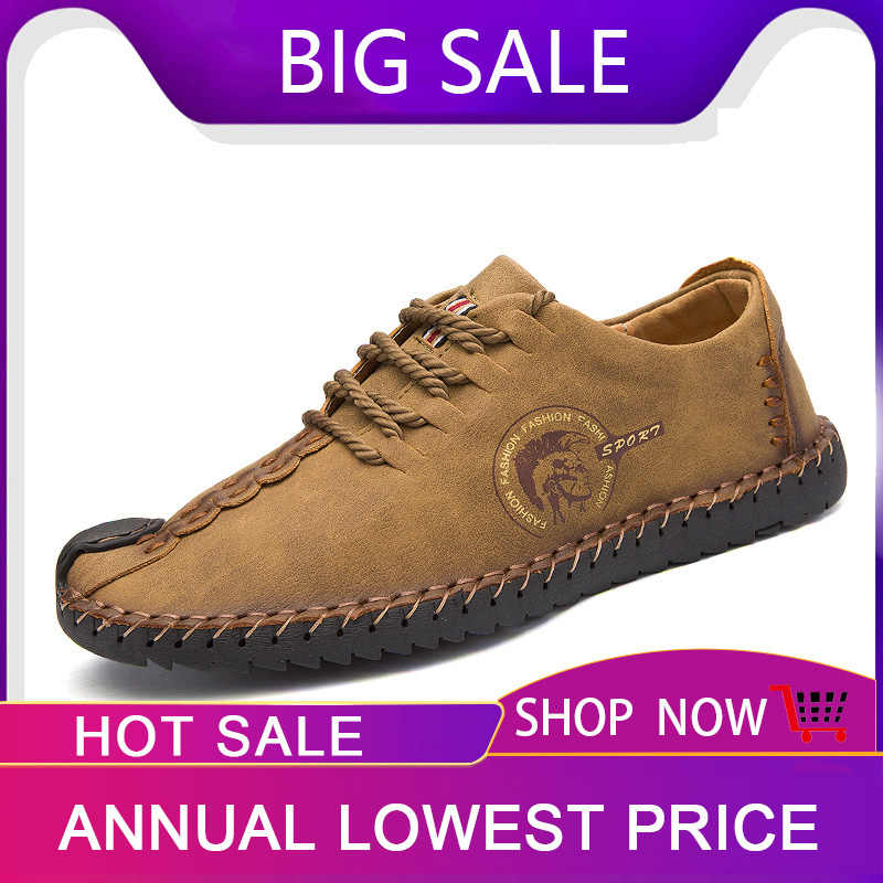 Venta Caliente Zapatos De Hombre De Cuero De Verano Planos De Tallas Grandes Mocasines Zapatos De Hombre De Otono Zapatos Casuales De Conduccion De Cuero Zapatillas De Hombre Tamano 46 Zapatos Informales De