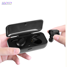 Seovo HIFI Binaural stereo surround sound 5.0 bluetooth earbuds Digital power bank Mobile battery handsfree earphone flypods