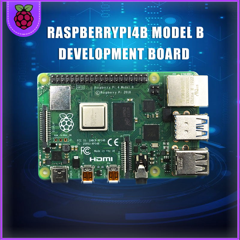 Raspberry Pi 4 Model B LPDDR4 2G/4G Quad-core Cortex-A72 (ARM V8) 64-bit 1.5Ghz Dual 4K HDMI Output Power Than 3B+