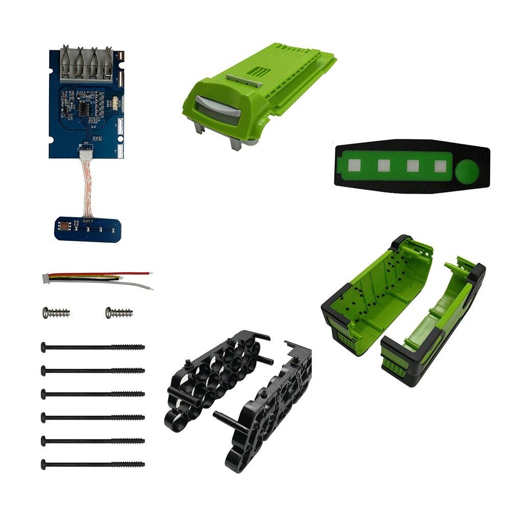 20*18650 batería de ion de litio, carcasa de plástico, placa de circuito de protección de carga, PCB para césped Greenworks, cortadora de césped 40V