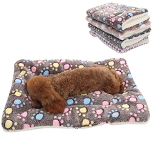 Soft Flannel Pet Dog Blanket Mat Winter Thicken Warm Cat Cushion Sleeping Bed for Small Medium Large Dogs Supplies