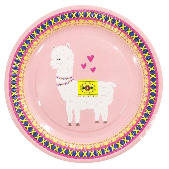 Alpaka geschirr Geburtstag Party Decor Lama Papier Teller Tassen Servietten Kuchen Topper für Kinder Glücklich Geburtstag Party Decor Liefert