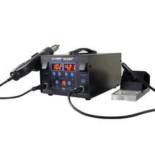 750 вт жк-дисплей с регулируемой температурой 862BD+ паяльная станция фена для IC SMD распайки паяльная