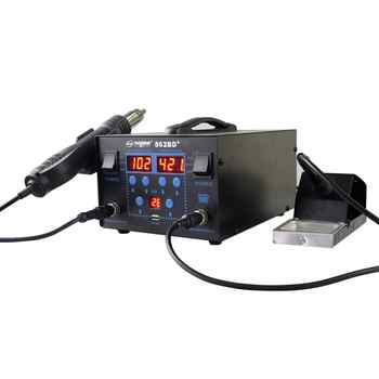 750W LCD Display Temperature Adjustable 862BD+ Soldering Station Hot Air Gun For IC SMD Desoldering Rework - DISCOUNT ITEM  0% OFF All Category