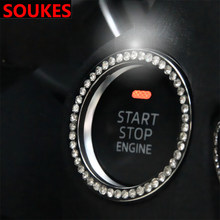 Car Styling Chrome Start Button Cover Sticker For Renault Megane Logan Mitsubishi Lancer VW Tiguan Golf 4 7 6 T5 T4 Jetta(China)