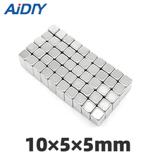 AI DIY 10/20/lot pcs 10x5x5mm Neodymium Magnet Block Super Strong  rare earth Magnets Rectangular 10 * 5 5mm