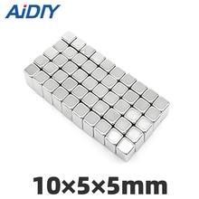 цена на AI DIY 10/20/lot pcs 10x5x5mm Neodymium Magnet Block Super Strong  rare earth Magnets Rectangular 10 * 5 * 5mm