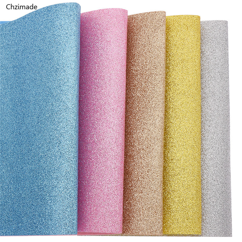 Chzimade 21x30cm A4 Glitter Felt Fabric Colorful Felt Material DIY Sewing Fabric For Toys Bags Crafts