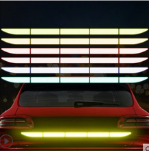 4Pcs/set Auto Reflect Stickers Reflector Car Trunk External Reflective Sticker Car Accessories Exterior Reflective Sticker cool wing style reflective car sticker yellow