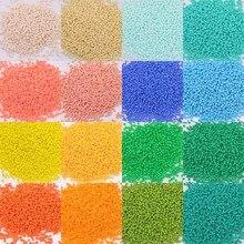 1000 teile/los 2mm Österreich Opaque Runde Loch Glas Perle Einfarbig Tschechische Glas Seed Spacer DIY Perlen Für Kinder schmuck Machen