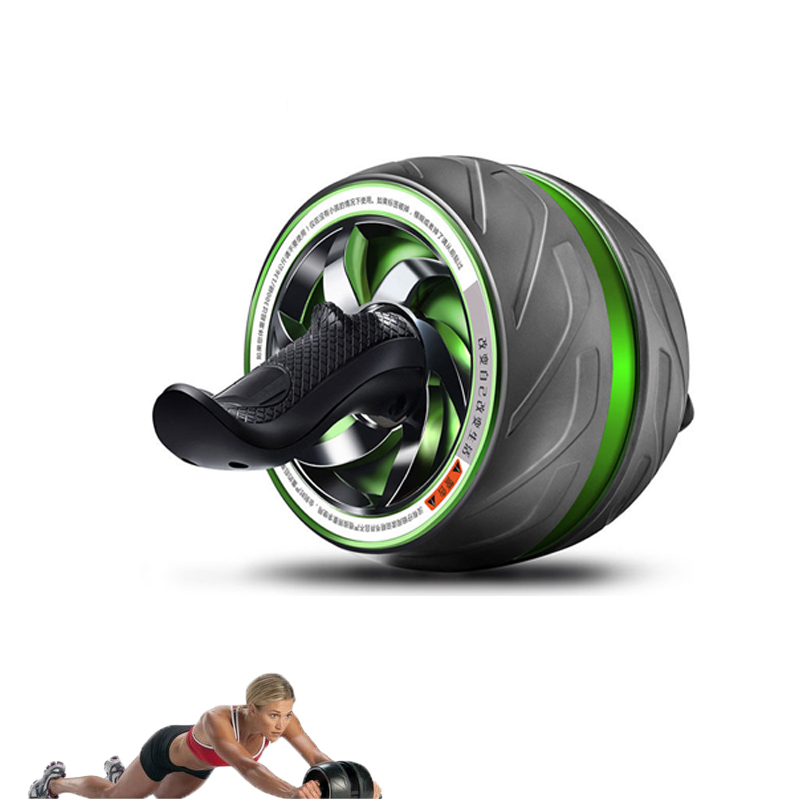 Doble rueda gran rueda Abdominal músculo equipo de gimnasia para el hogar Ejercicio de tirar ruedas abdominales pérdida de peso 35