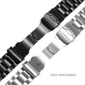 Image 5 - 肥厚ステンレス鋼腕時計ストラップpeneraiに適合させる男性の鋼バンドPAM111 黒交換チェーン 22 ミリメートル 24 ミリメートル