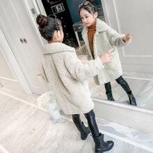 Модная куртка с отложным воротником для маленьких девочек; 2 цвета; шерстяное пальто; зимняя детская куртка; сезон весна-осень; Верхняя одежда для маленьких девочек