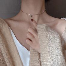 Новые простые ожерелья с бусинами на удачу для женщин короткая