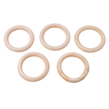 5pcs 70mm Wooden Baby Teething Rings Infant Teether Toy DIY