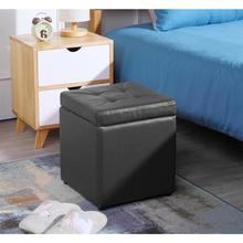 Functional Storage Foot Stool Ottoman Bench Chest Book Storage Cube Colorful Storage Box Upholstered Seat With Lid Muebles HWC
