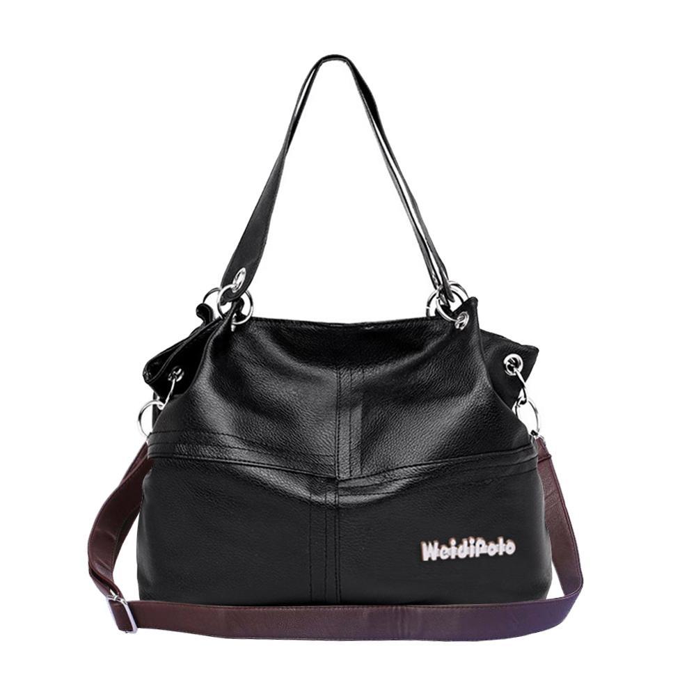 Neue Mode Retro Frauen PU Handtasche 5 Einfarbig Großzügige Tote Zipper Große Kapazität Trendy Einfache Schulter Taschen damen taschen
