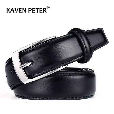 Classic Leather Belt For Men Luxury Business Male Cowhide Leather Belts 3.0 CM Casual Pin Buckle Belt For Men Dropshipping Pakistan